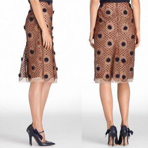 Tory Burch Brown / Navy / Cream Thomad Skirt $495